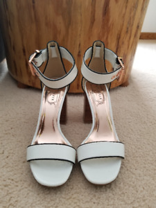 "Ted Baker ""Lorno"" white heeled sandals"