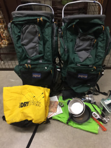 PROFESSIONAL BACKPACKS AND SOME CAMPING EQUIPMENT
