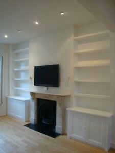 Custom Made Display Cabinets , Bookcases & Kitchens