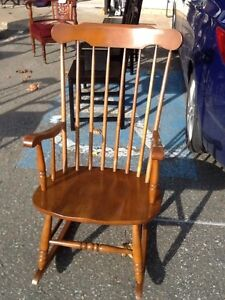 vintage grandfather fireside rocking chair
