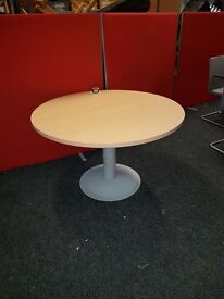 Round Beech Wooden Table