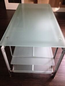 Glass and metal television stand Kitchener / Waterloo Kitchener Area image 2