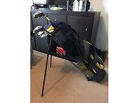 Dunlop golf clubs and stand bag
