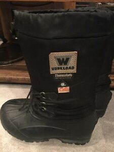 Steel toed winter boots M size 8