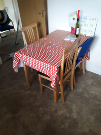 Table x2 chairs