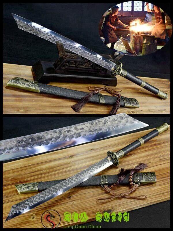 Battle Ready High Manganese Steel Blade Broadsword Chinese Sword Sharp Handmade