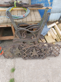 Wrought Iron Bench Ends