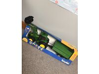 Bruder John Deere tractor and trailer