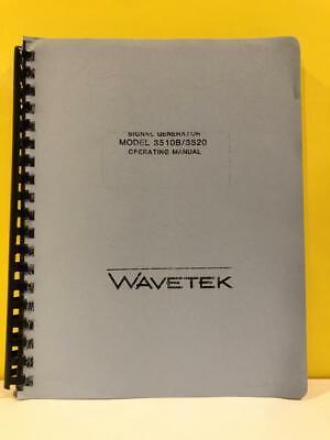 Wavetek Signal Generator Model 3510b3520 Operating Manual