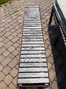 Two custom-fabricated Steel Benches with Upholstered Cushions Belleville Belleville Area image 4