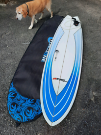 6.10 surfboard Fish in Excellent condition with bag ,leash and fins...