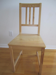 4 chairs (Stefan from Ikea) / chaise de table a manger