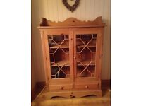 Solid Pine Display Cabinet / Sideboard £85 Can Deliver