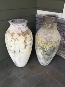 Decorative ceramic patio urns