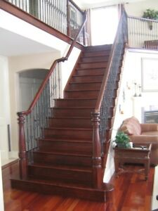 Professional hardwood stair installer