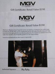 Machine Guns Vegas, Zip Line Certificates