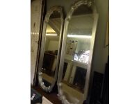 Amazing Massive Extra Large Pair Of Mirrors With Art Deco Style Frame.