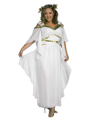 Plus Size Toga Dress (Adult Womens XL Uk 16-18  Roman Goddess Toga Fancy Dress Costume Plus Size )