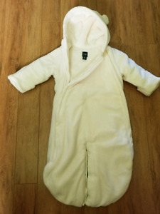 White Baby Gap snow suit for 3-6 months