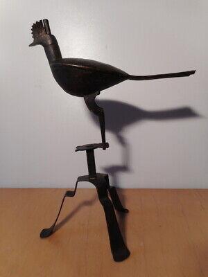 Statue Sculpture Metal Antique Chinese? Asian Bird Door Incense Asia