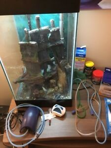 15 gal. Aqueon column fish tank with all accessories!!