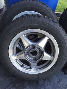 4X P175/65R14 winter tires + 4 all season tires with rims