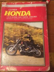1978 - 1983 Honda CX GL 500 650 Cylmer Manual