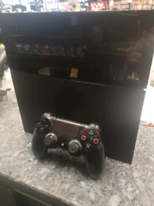 500GB PS4 with hookups and controller