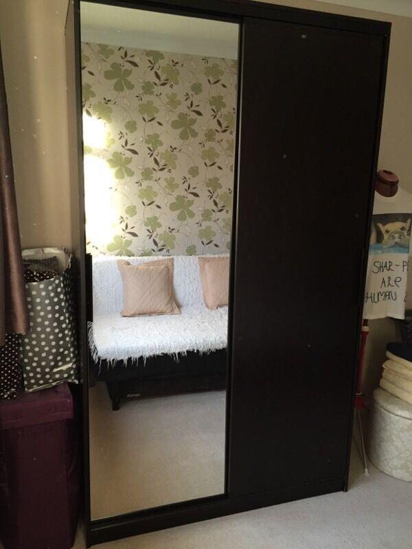 ikea morvik wardrobe in black brown in maidenhead. Black Bedroom Furniture Sets. Home Design Ideas