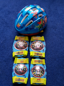 Cycle helmet and safety pads