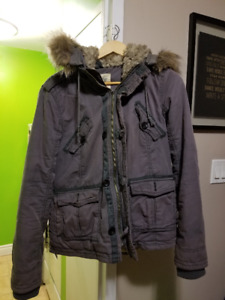 TNA Grey Bomber Winter Jacket - Large