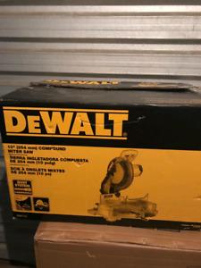 """DeWalt DW713  Miter Saw 10"""" slightly used"""