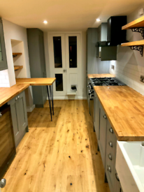 Kitchen and bathroom fitted