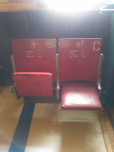 MONTREAL CANADIAN SEATS FROM OLD FORM