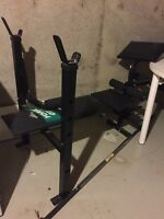 Weight bench and bar. No weights