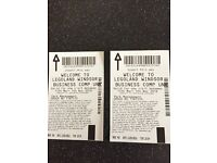 2x adult tickets to Lego land windsor