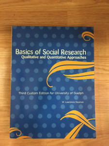 Basics of social research buy or sell books in ontario kijiji basics of social research qualitative and quantitative approach fandeluxe Gallery