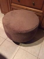 Suede Brown Ottoman Footstool Stool