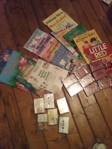 NEUF: 14 livres en anglais avec cassettes à vendre