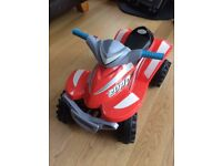 Red Racing Quad Ride On