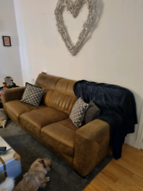 3 seater suede sofa