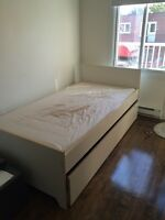 White Bed from Ikea Size twin