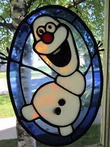 Snowman - Stained Glass - Window Hanger