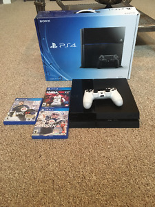 500GB PS4 with games OBO