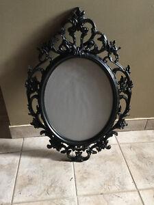 Black Floral Victorian Frame