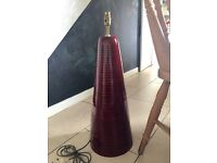 Ceramic base lamp