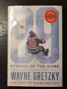 """WAYNE GRETZKY - """"99 STORIES OF THE GAME"""" BOOK - AUTOPEN SIGNED"""