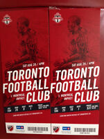 2 TFC Tickets vs Montreal on Sat Aug 29