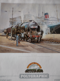 7 Colour Steam Train Prints suitable for framing! Can be viewed!!