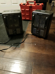 Two 1500W heaters